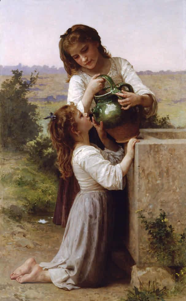 Adolphe William Bouguereau-At The Fountain (1897)